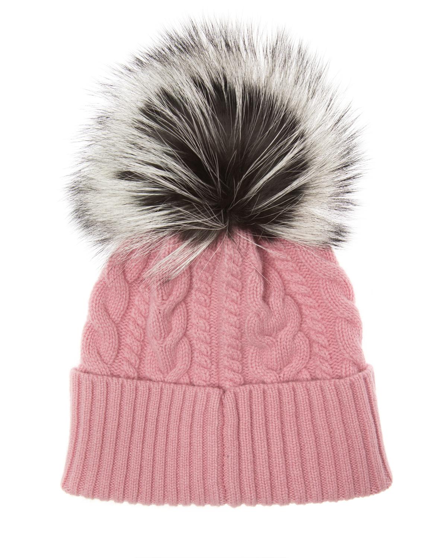 6c73c9ae404 Moncler Women s Cable-Knit Beanie Hat Pink 85890 2 - Linea Fashion