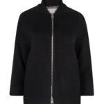 Herno Women's Ribbed Collar Coat Black