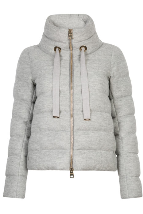 Herno Women's Lurex Down Jacket Grey