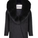 Herno Ladies Fur Collar Coat Black