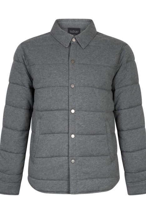 Velvet Men's Quilted Down Jacket Grey