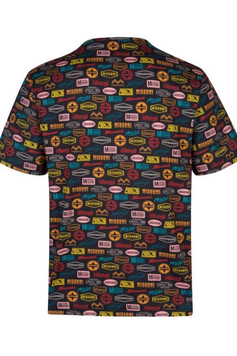 Missoni Men's Cotton Pop-Art T-Shirt Black