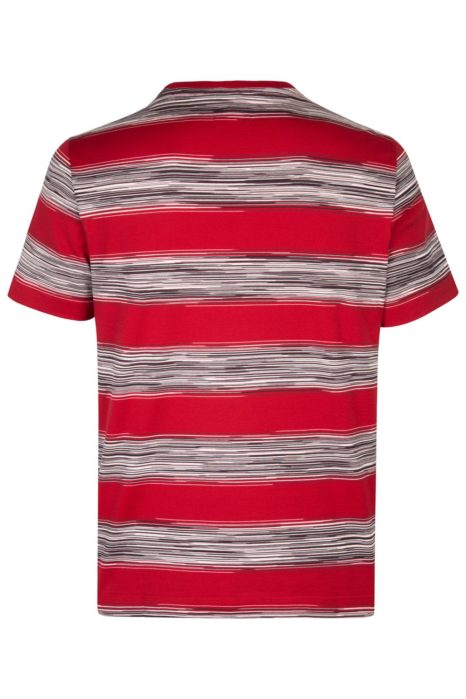 Missoni Men's Cotton Stripe Rugby T-Shirt Red