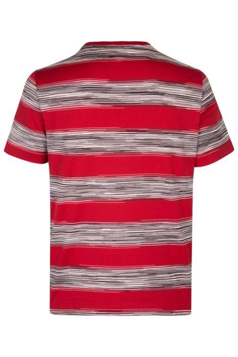 Missoni Men's Cotton Stripe Rugby T-Shirt Red