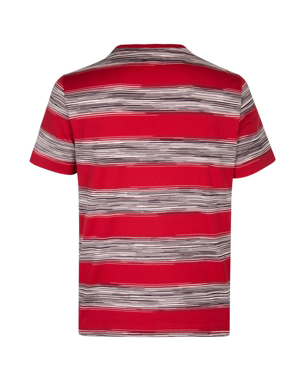 eda500e4c82a95 Missoni Men's Cotton Stripe Rugby T-Shirt Red MensTee12_2 - Linea ...