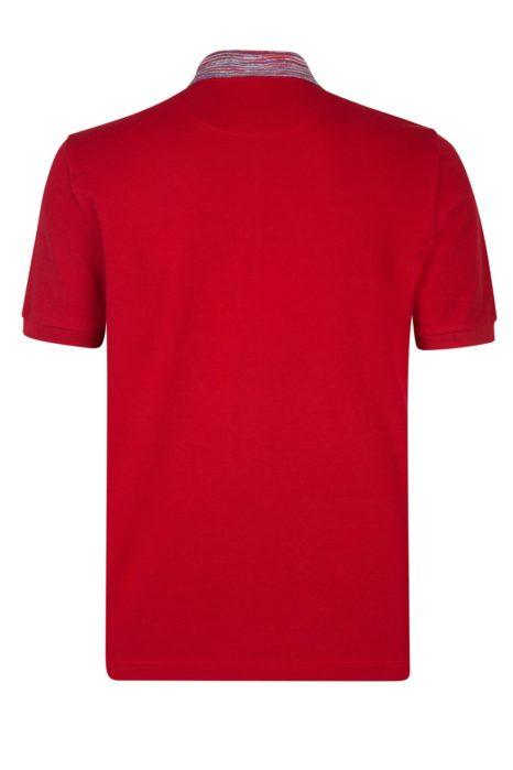 Missoni Men's Cotton Plain Polo Shirt Red