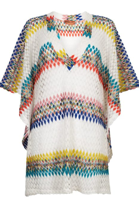 Missoni Women's Zig Zag V-Neck Kaftan White