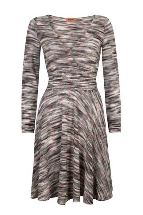 Missoni Women's Stripe V-Neck Dress Red