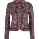 Missoni Women's Checked Blazer Jacket Brown