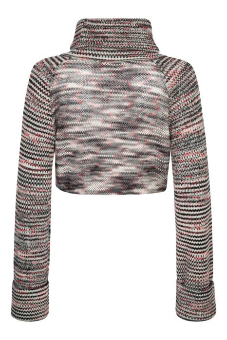 Missoni Women's Stripe Turtle-Neck Sweater Black