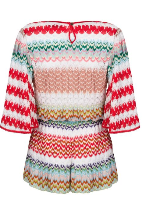 Missoni Women's Crotchet-Knit Kaftan Jumpsuit Red