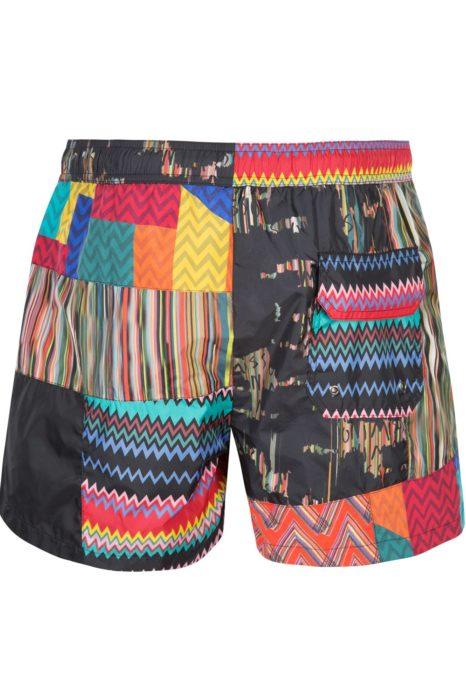 Missoni Men's Mare Patchwork Swim Shorts Black