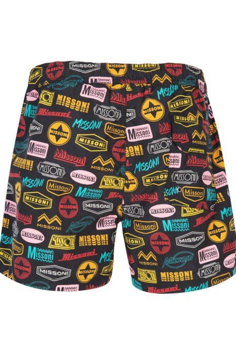 Missoni Men's Mare Pop Art Swim Shorts Black