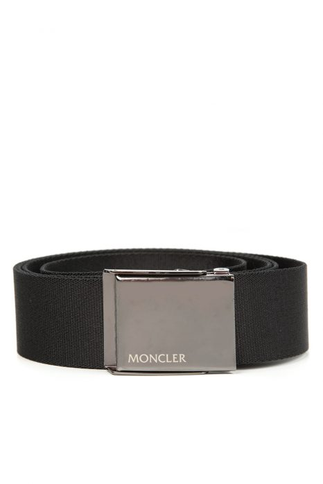 Moncler Men's Square Buckle Belt Black