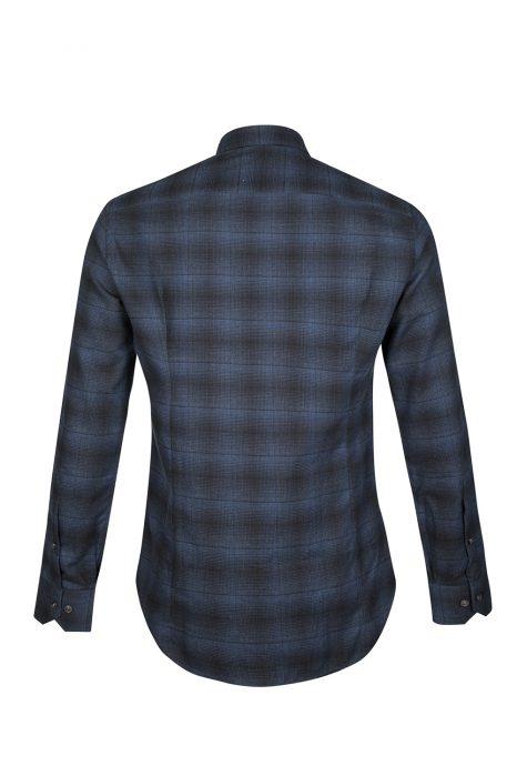 Pal Zileri Men's Check Cotton Shirt Navy