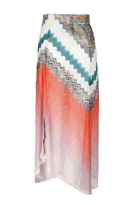 Missoni Women's Zigzag Maxi Skirt Orange