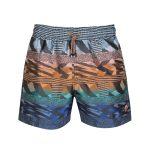 Missoni Men's Mare Stripe Swim Shorts Blue