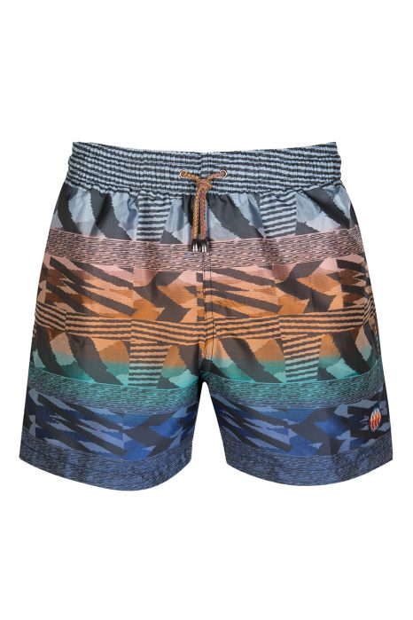 Missoni Men's Mare Stripe Swim Shorts Blue