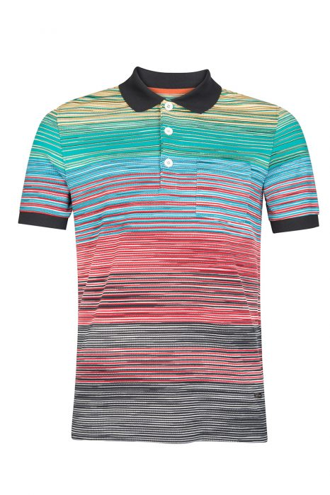 Missoni Men's Cotton Space-Dye Polo Shirt Yellow