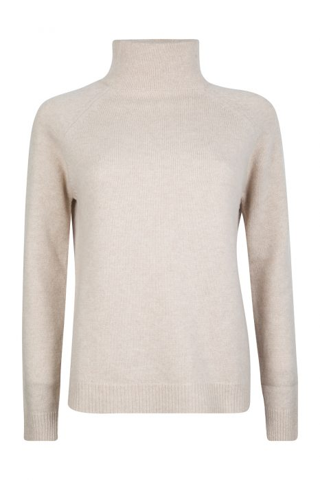 Blumarine Women's Turtle Neck Sweater Beige