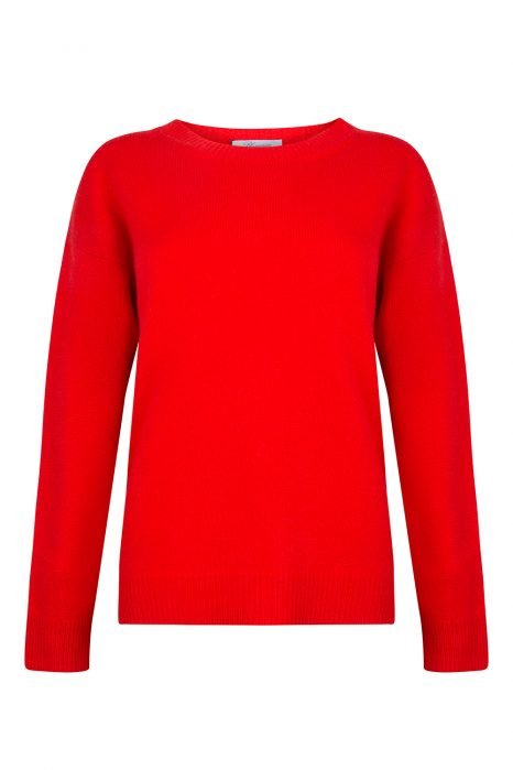 Blumarine Women's Round Neck Sweater Red