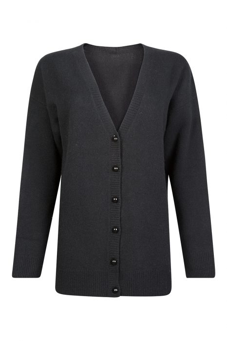 Blumarine Women's Wool-Cashmere Blend Cardigan Black