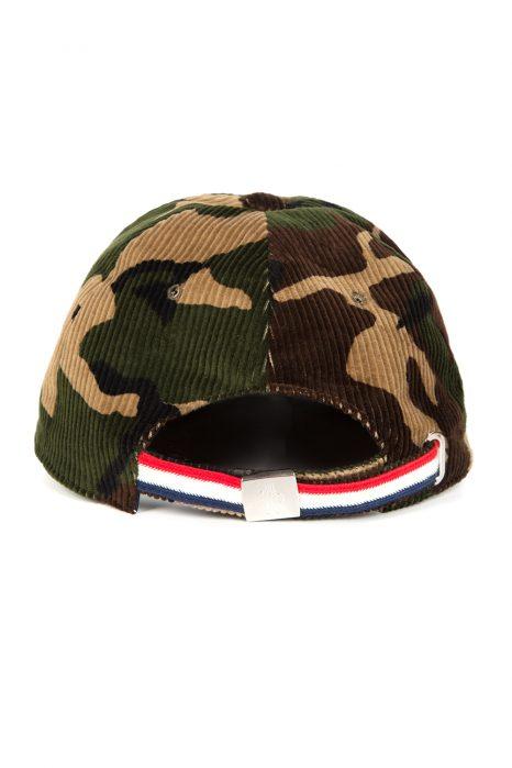 Moncler Men's Velvet Baseball Cap Camo Green