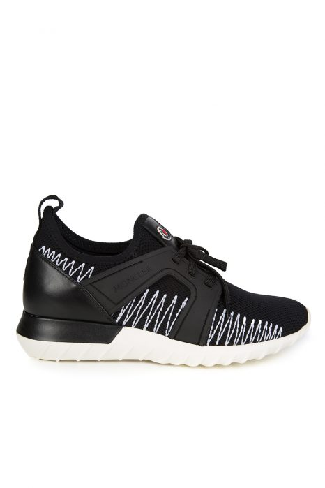 Moncler Men's Emilien Zigzag Trainers Black
