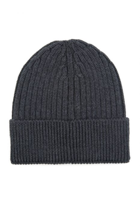Moncler Grenoble Men's Ribbed Beanie Hat Grey
