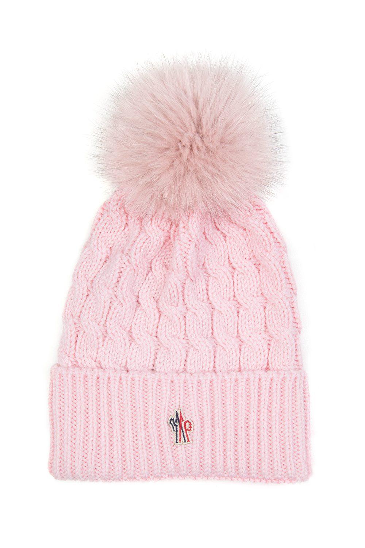 Moncler Beanie Grenoble para mujer rosa Pom Sombrero awCqBB