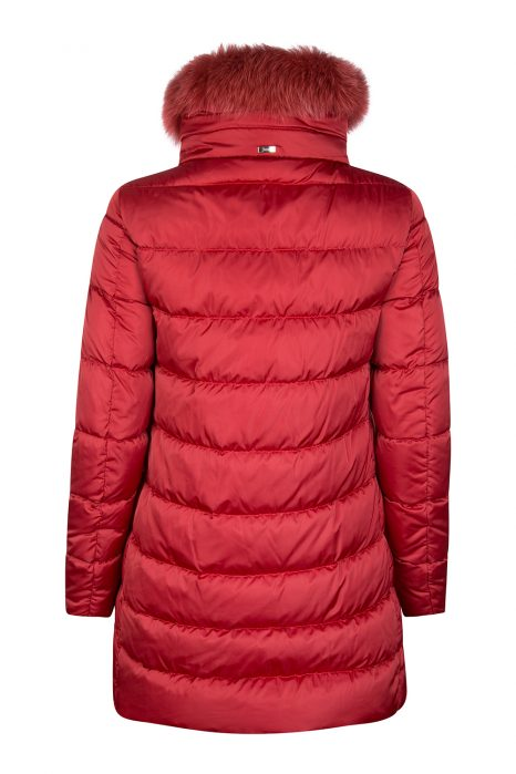 Herno Women's Hooded Puffer Coat Red