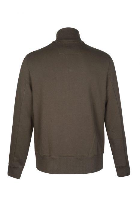 C.P. Company Men's Funnel Zip Sweatshirt Khaki Green