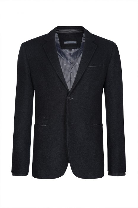 John Varvatos Wool Blazer Black