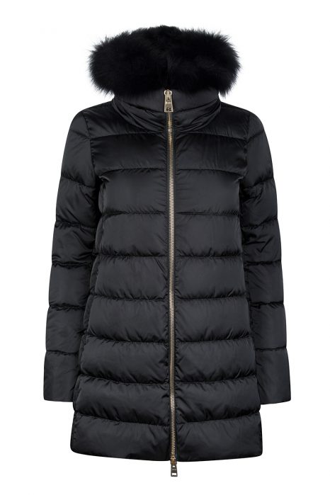 Herno Women's Hooded Puffer Coat Black