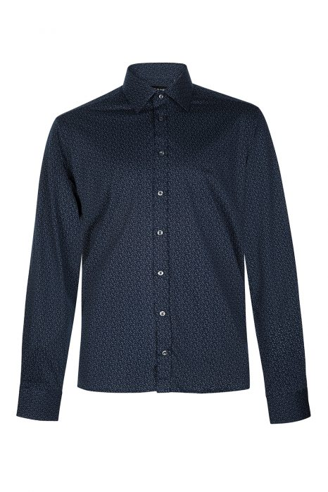 Sand Men's Printed Cotton Shirt Blue