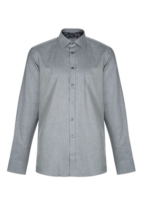 Sand Men's Herringbone Cotton Shirt Grey