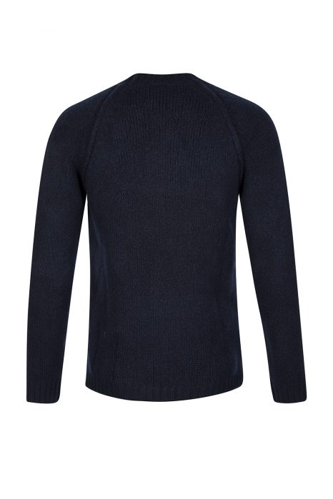 Ten C Men's Wool-blend Raglan Jumper Blue