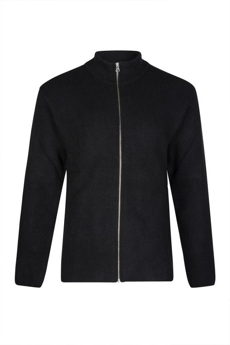 Ten C Men's Wool-blend Zip Cardigan Black