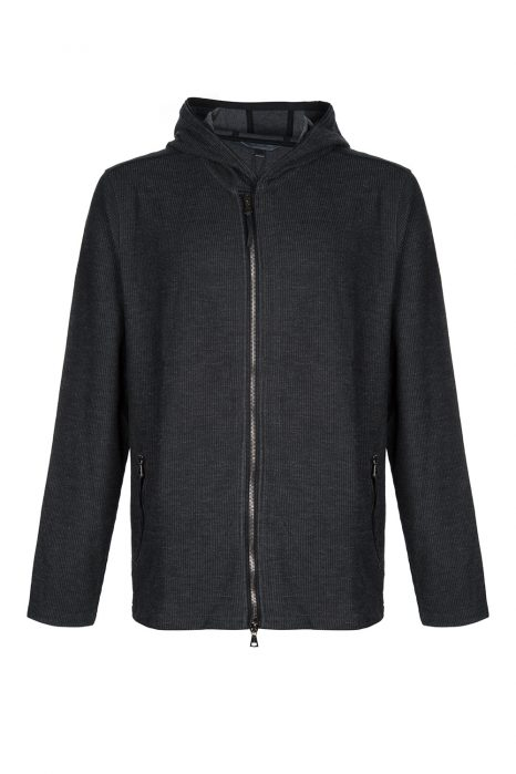 John Varvatos Zip-Up Hoodie Black