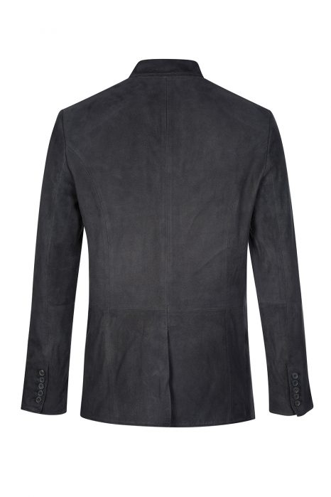John Varvatos Men's Suede Jacket Grey