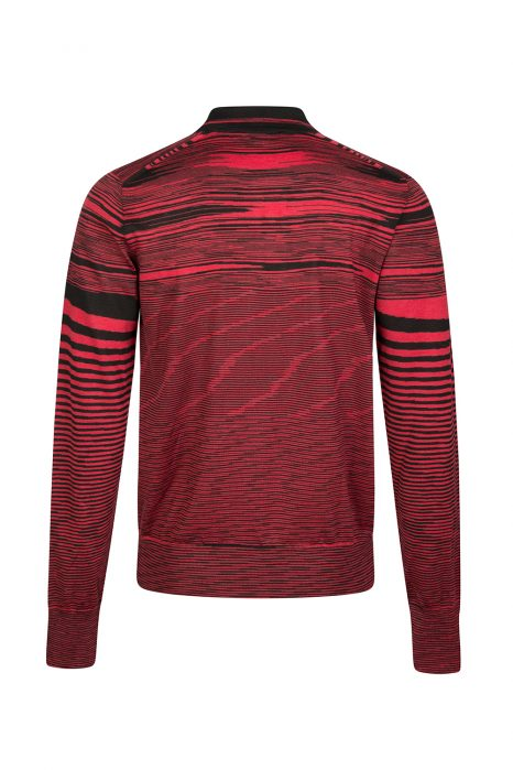 Missoni Men's Space-dye Long-sleeved Polo Red