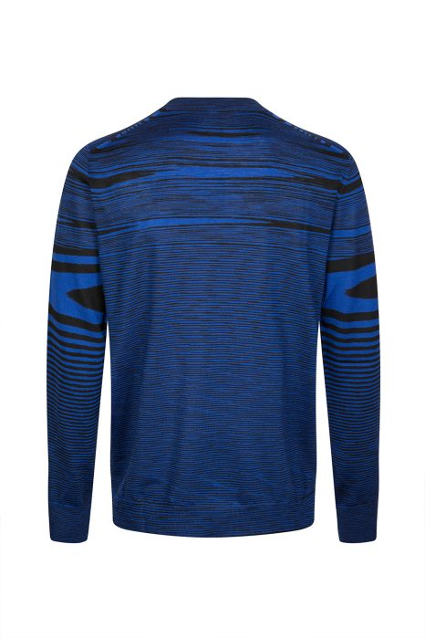 Missoni Men's Space-dye Knitted Top Dark Blue