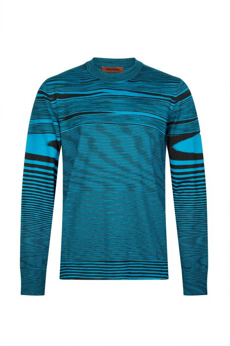 Missoni Men's Abstract Patterned Knitted Top Blue