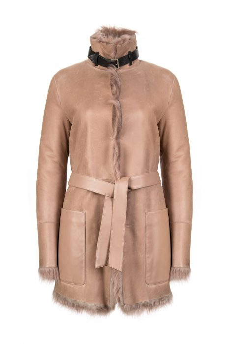 Belstaff Borrowdale Women's Reversible Coat Dusty Pink
