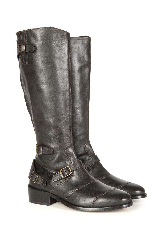 36694152c66e0 Belstaff Trialmaster Women s Knee-High Boots Black - Linea Fashion