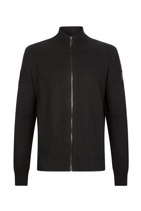 Belstaff Renhold Men's Zip Up Cardigan Black