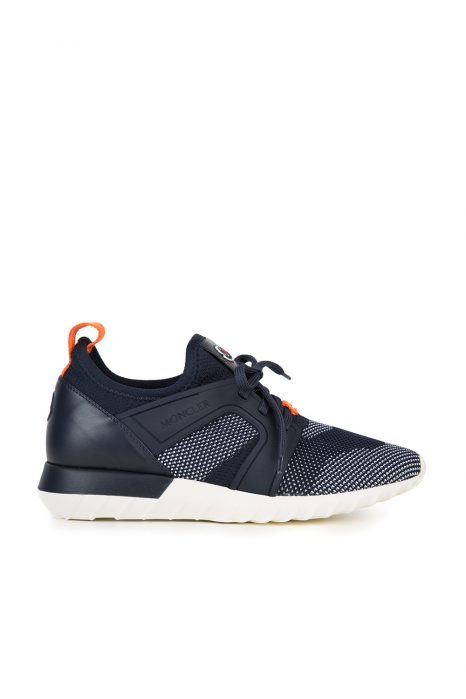 Moncler Emilien Men's Mesh-panel Trainers Navy