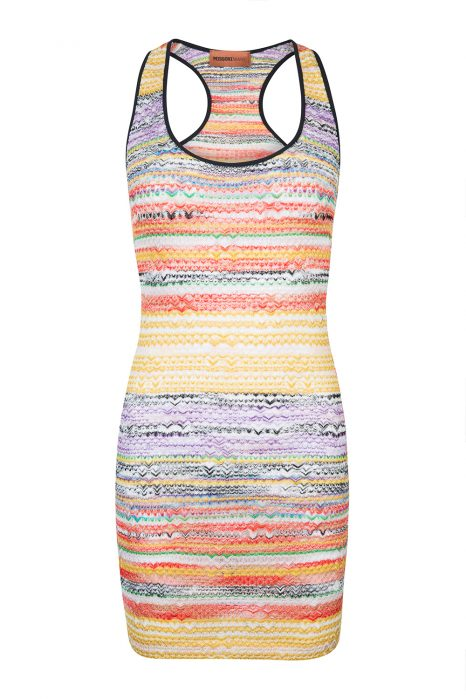 Missoni Women's Striped Mini Dress Multicoloured