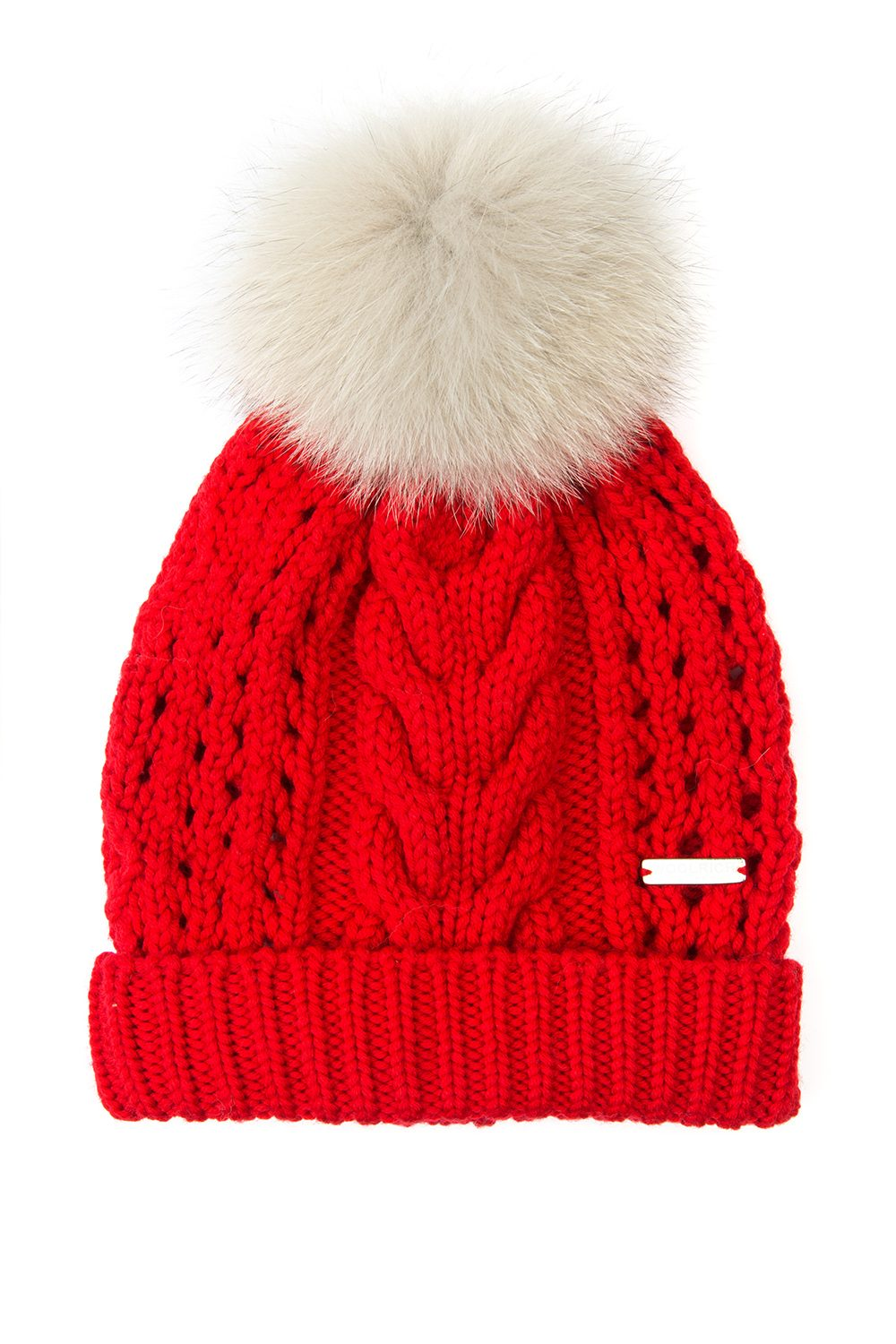 Woolrich Serenity Ladies Ribbed Bobble Hat Red - Linea Fashion 0a97e79040c