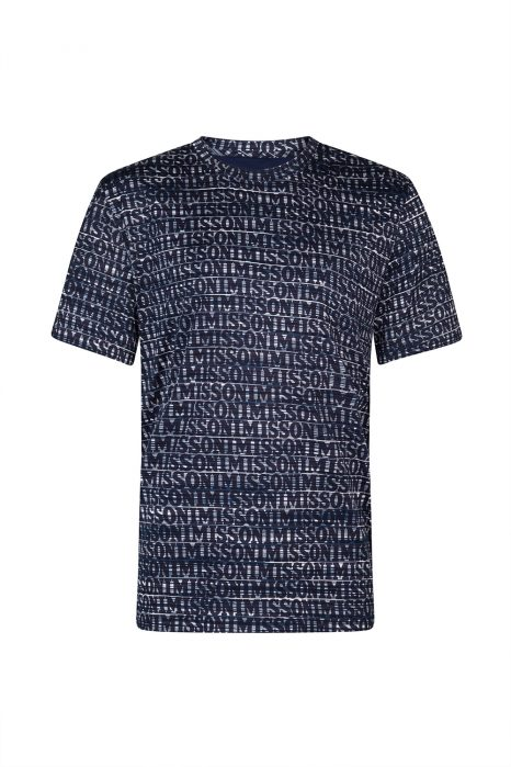Missoni Men's Logo Print T-shirt Navy